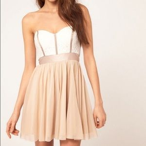 ASOS White and beige dress